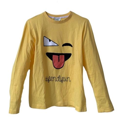 Yellow Fun Long-Sleeved Top