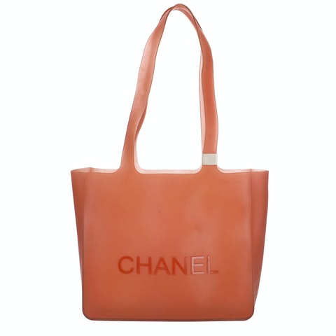Orange Rubber Tote
