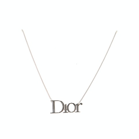 Silver-Toned Letter Necklace