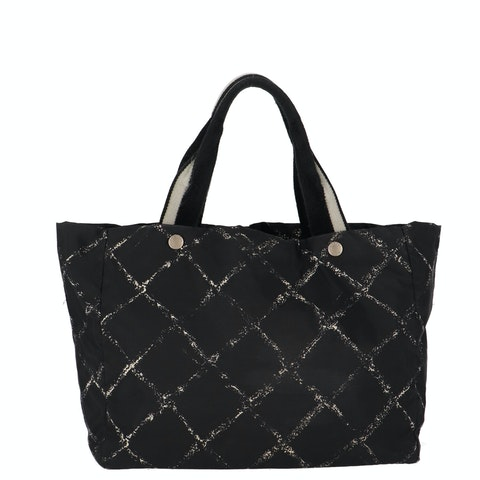Black Old Travel Line Collection Tote