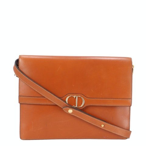 Dior Brown Leather Crossbody