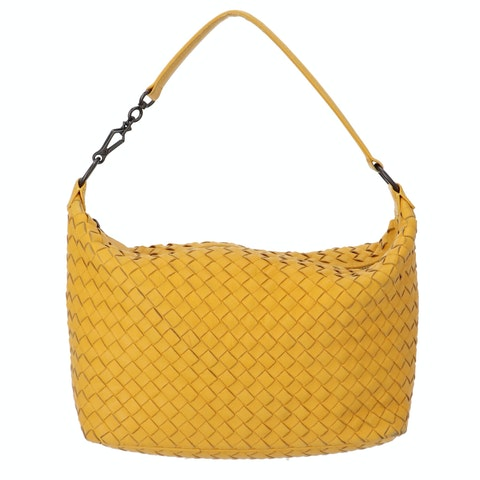 Bottega Veneta Yellow Small Intrecciato Shoulder Bag
