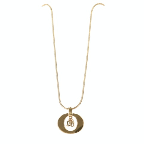 Gold-Toned Letter Necklace