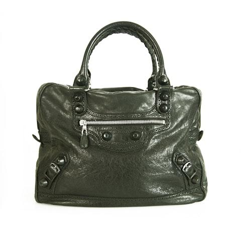 Balenciaga Black City Handbag