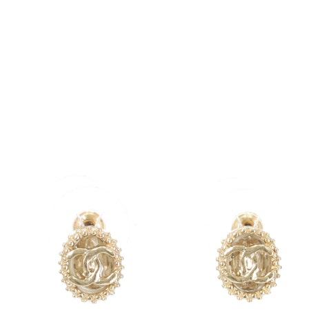 Chanel Gold 'CC' Logo Earrings