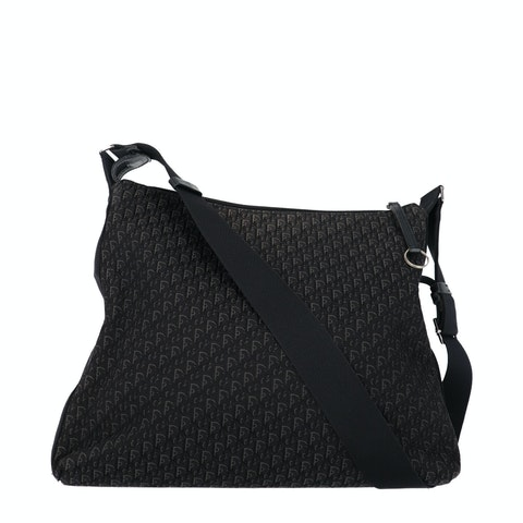 Dior Black Jacquard Canvas Trotter Crossbody