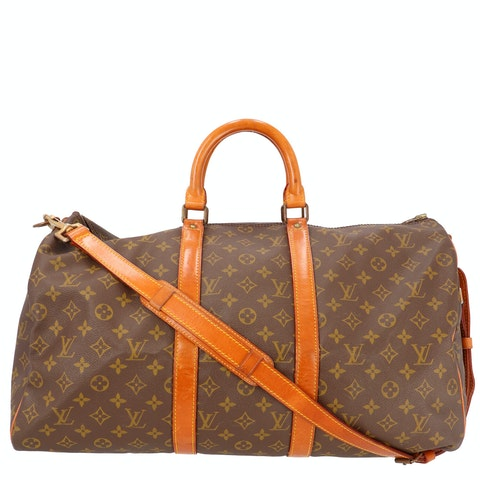 Monogram Canvas Keepall Bandouliere 50