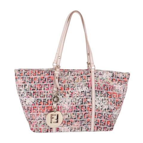 Fendi Multicolor Zucca Canvas Shoulder Bag