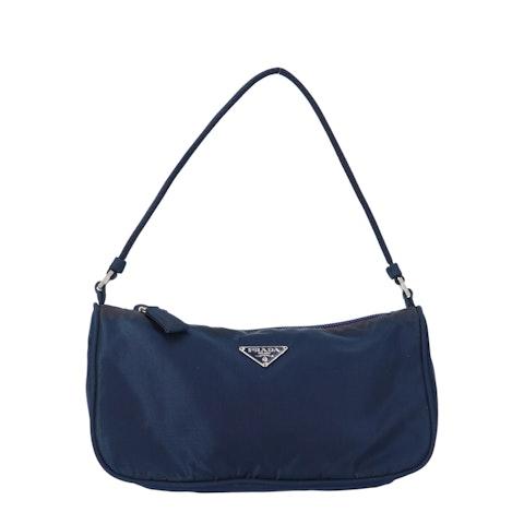 Navy Nylon Shoulder Bag