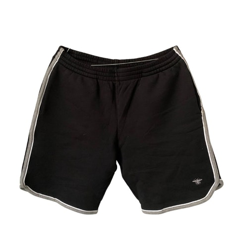 Black Cotton Men's Shorts