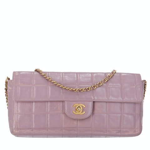 Chanel Purple Lambskin Chocolate Bar