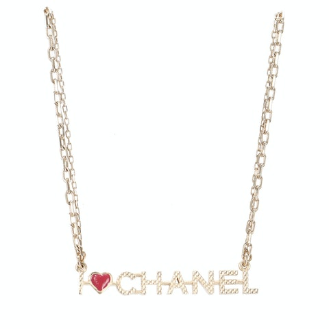 Gold-Toned Nameplate Necklace