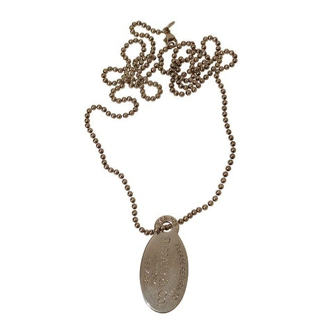 Silver Oval Pendant Necklace