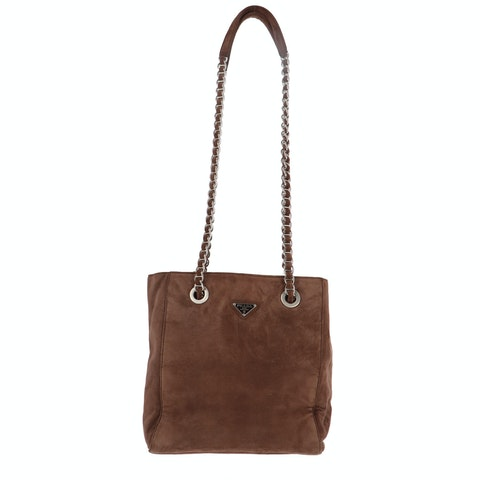 Brown Suede Shoulder Bag