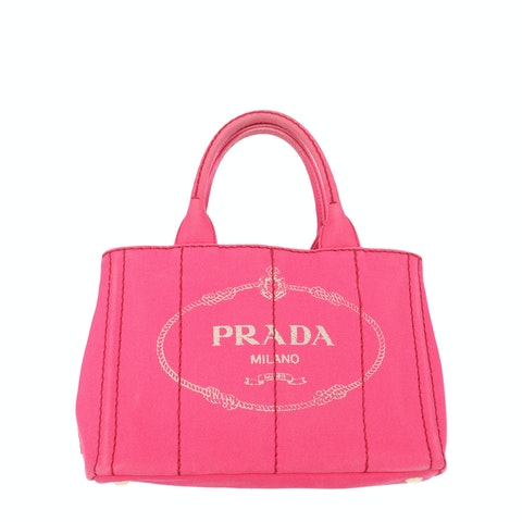 Pink Printed Canvas Tote