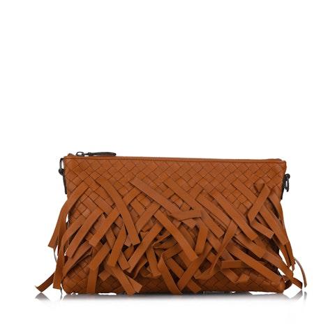 Intrecciato Biletto Leather Crossbody Bag