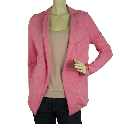 American Vintage Pink Open Front Cotton Summer Jacket