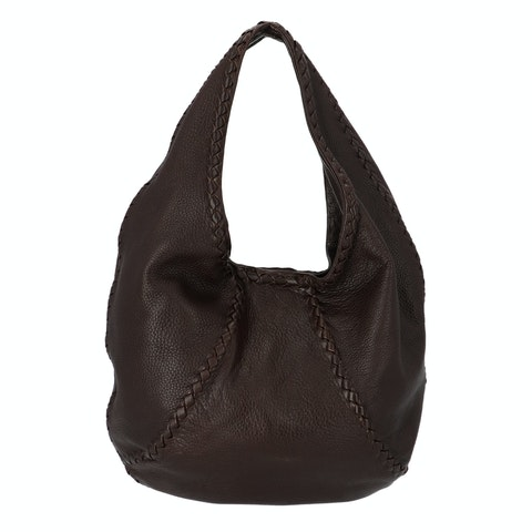 Bottega Veneta Brown Intrecciato Hobo Bag