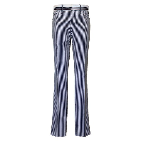 Cotton Striped Trousers