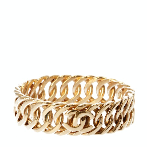 Gold-Toned Logo Bangle