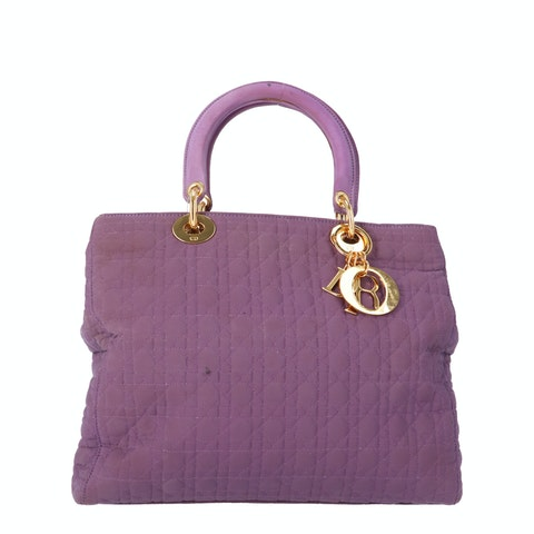 Purple Felt Lady Dior Medium