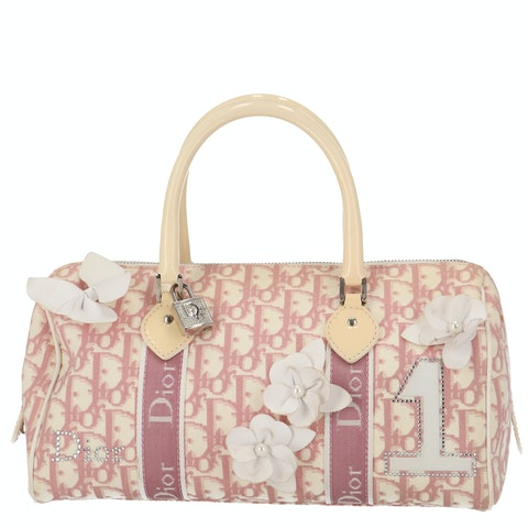 Pink Coated Canvas Bowling Bag