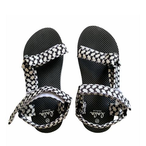 Black Nylon Sandals