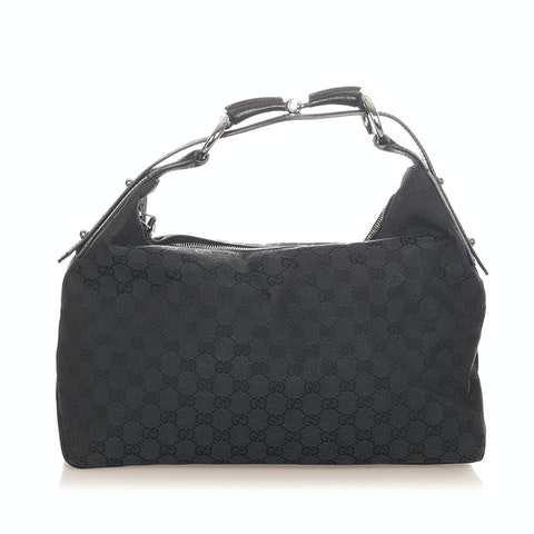 GG Horsebit Canvas Handbag