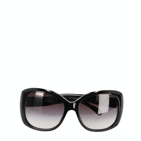 Black Acetate 'CC' Sunglasses