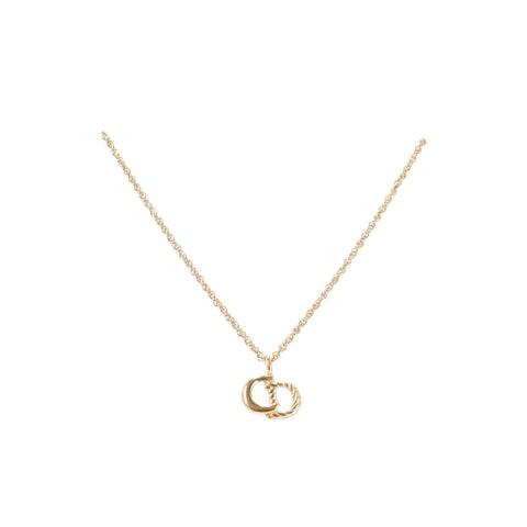 Gold 'CD' Logo Necklace