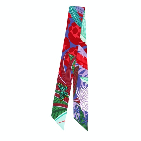 Multicolor Silk Twilly Scarf