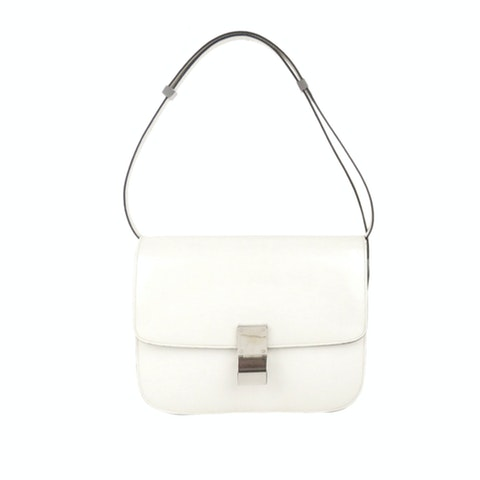 Medium Classic Box Leather Shoulder Bag