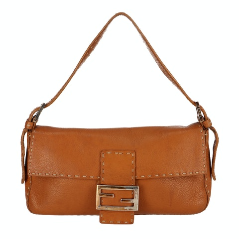 Brown Leather Baguette