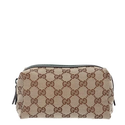 Gucci Brown Calfskin Leather Shoulder Bag