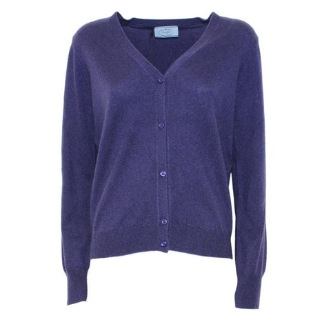 Purple/blue cashmere Cardigan