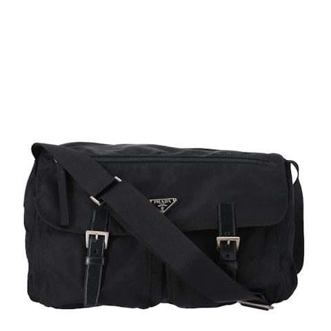 Prada Black Nylon XL Messenger