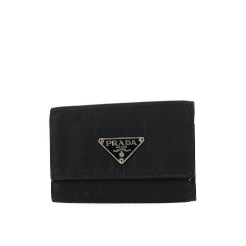 Prada Black Nylon Key Case