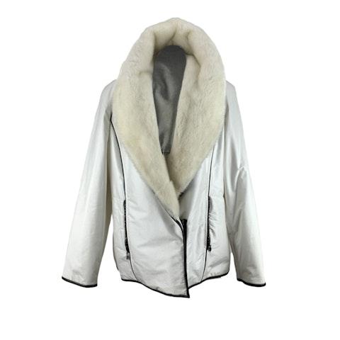 White Waterproof Padded Jacket