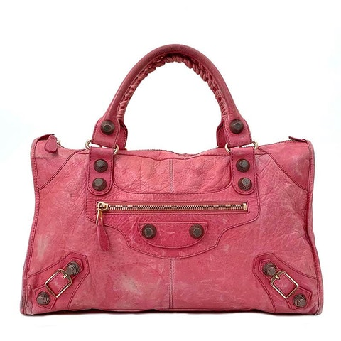 Balenciaga Pink Lambskin Part Time Giant 21