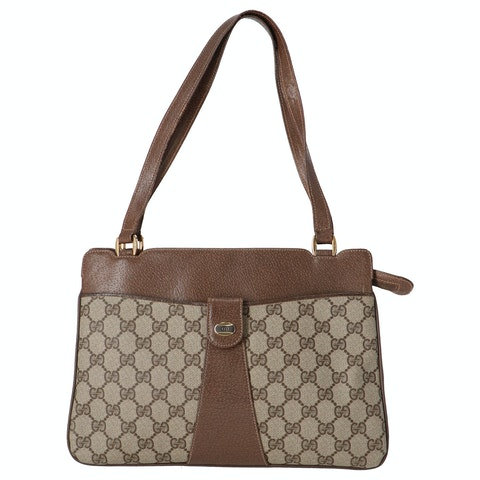 Gucci Brown Diamante Coated Canvas Accessory Collection Shoulder Bag