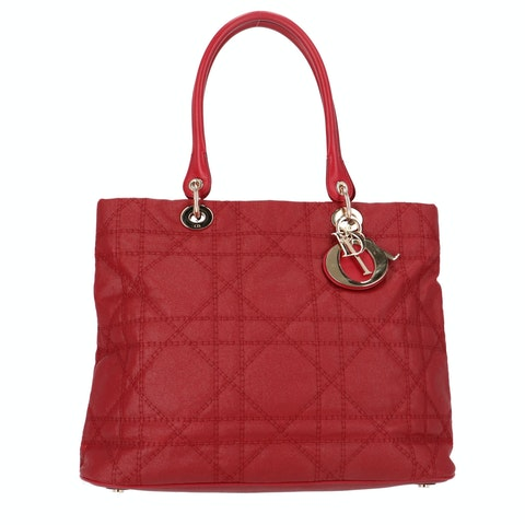 Red Leather Soft Lady Dior