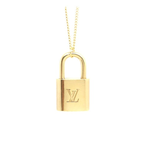 Gold-Plated Lock Necklace