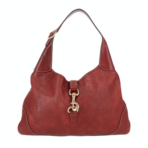 Red Guccissima Leather Jackie