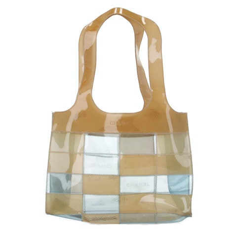 Brown Transparent Rubber Tote
