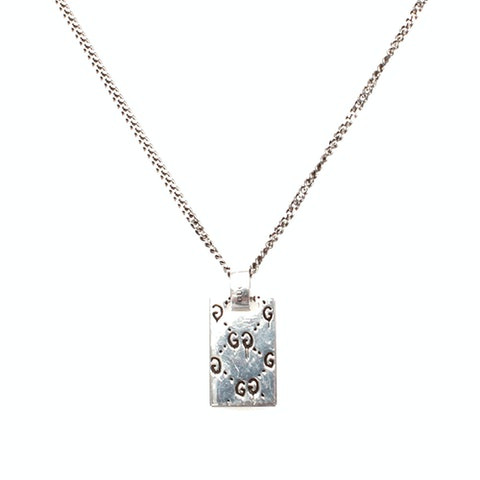 Ghost Tag Pendant Necklace