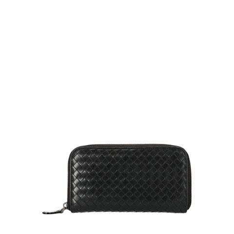 Brown Zip-Around Wallet