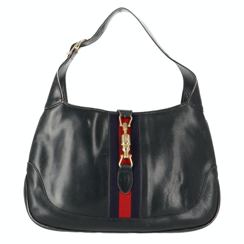 Black Calfskin Leather Jackie