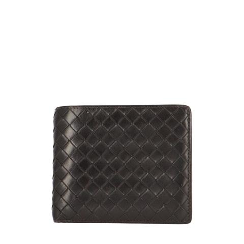 Black Intrecciato Bifold Wallet