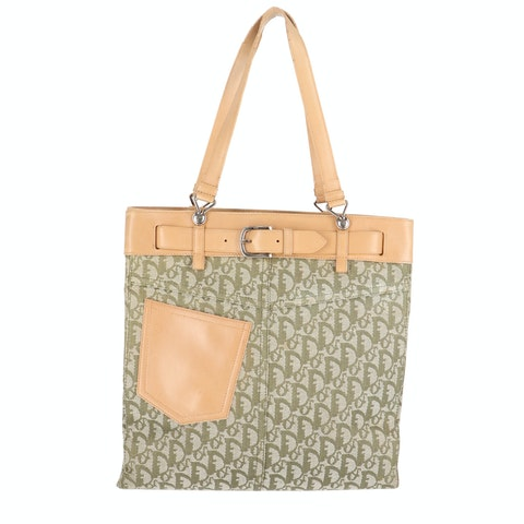Green Patch Pocket Tote