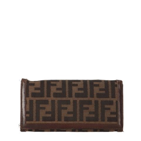 Brown Zucca Canvas Long Wallet